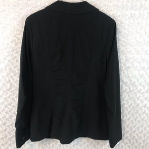 CAbi Jackets & Coats - CAbi 601 Ruched Pinstripe Blazer NWT